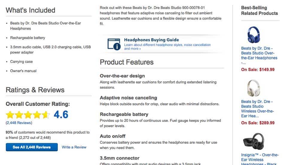 Product Detail Page Description